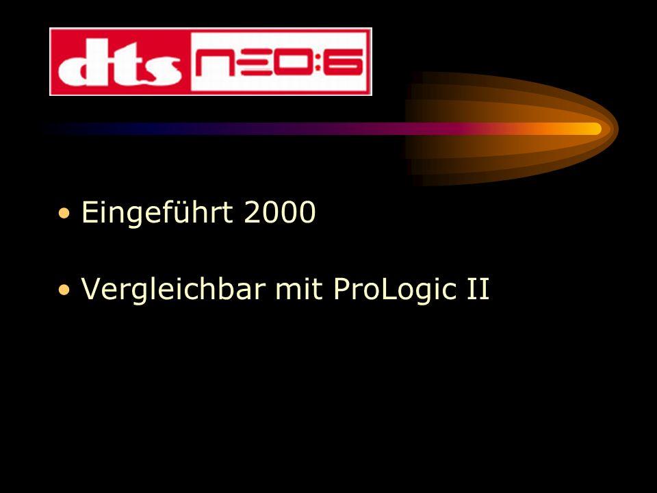 Eingeführt 2000 Vergleichbar mit ProLogic II