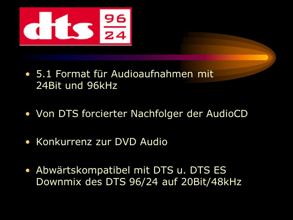 5.1 Format für Audioaufnahmen mit 24Bit und 96kHz