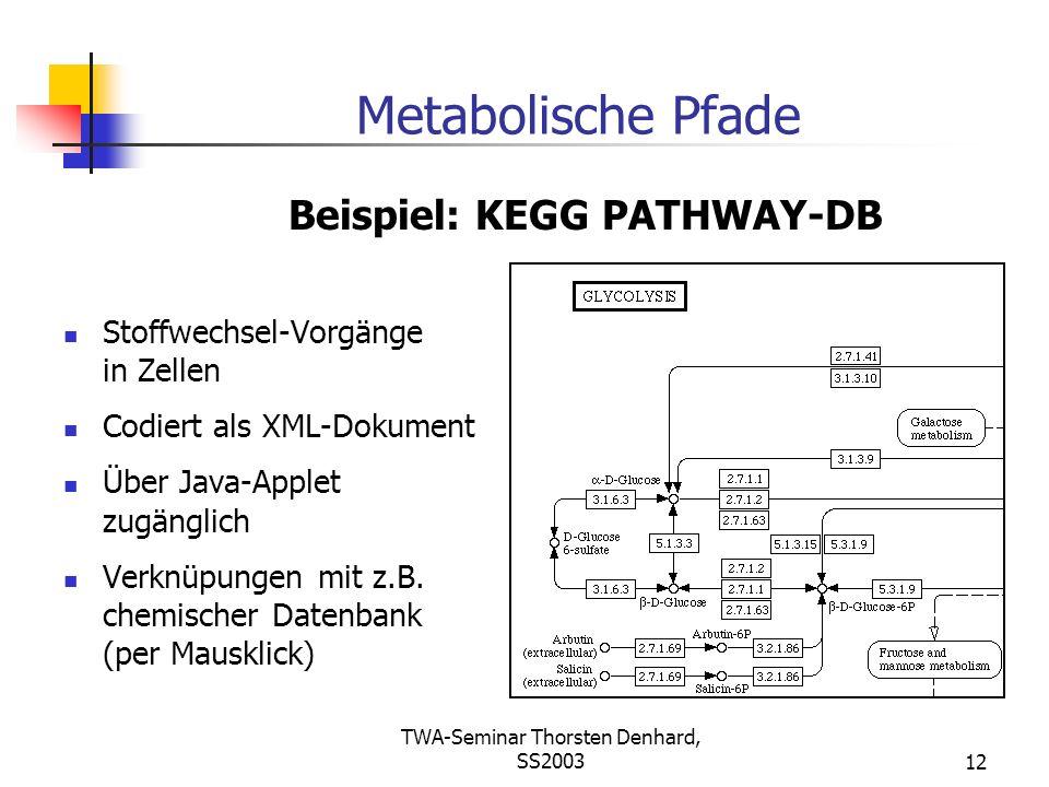 Beispiel: KEGG PATHWAY-DB