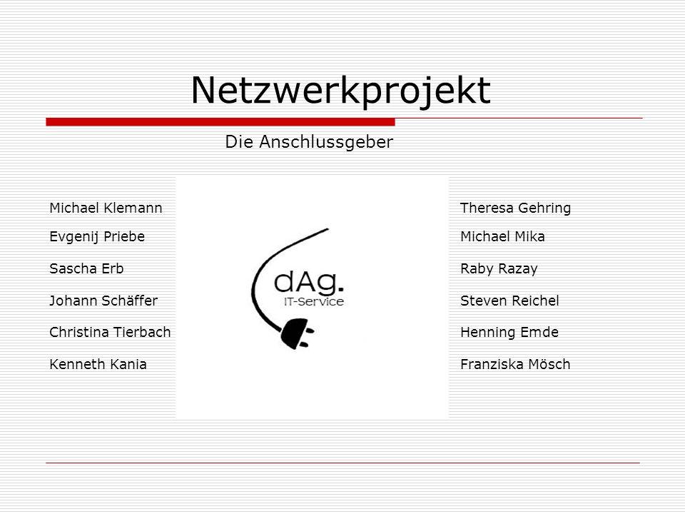 Netzwerkprojekt Die Anschlussgeber Michael Klemann Theresa Gehring