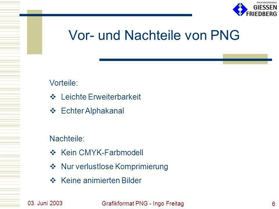 Vor- und Nachteile von PNG