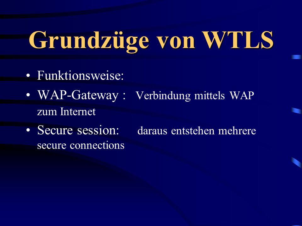 Grundzüge von WTLS Funktionsweise: