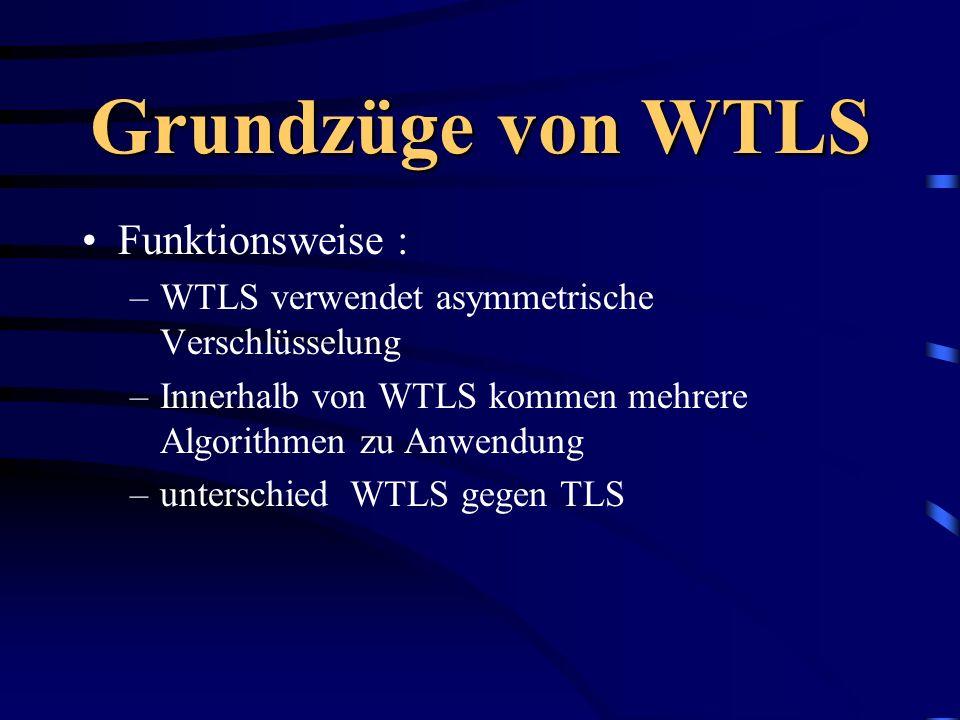 Grundzüge von WTLS Funktionsweise :