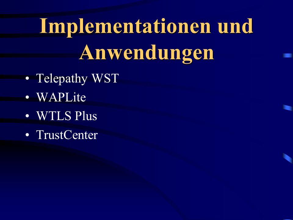 Implementationen und Anwendungen