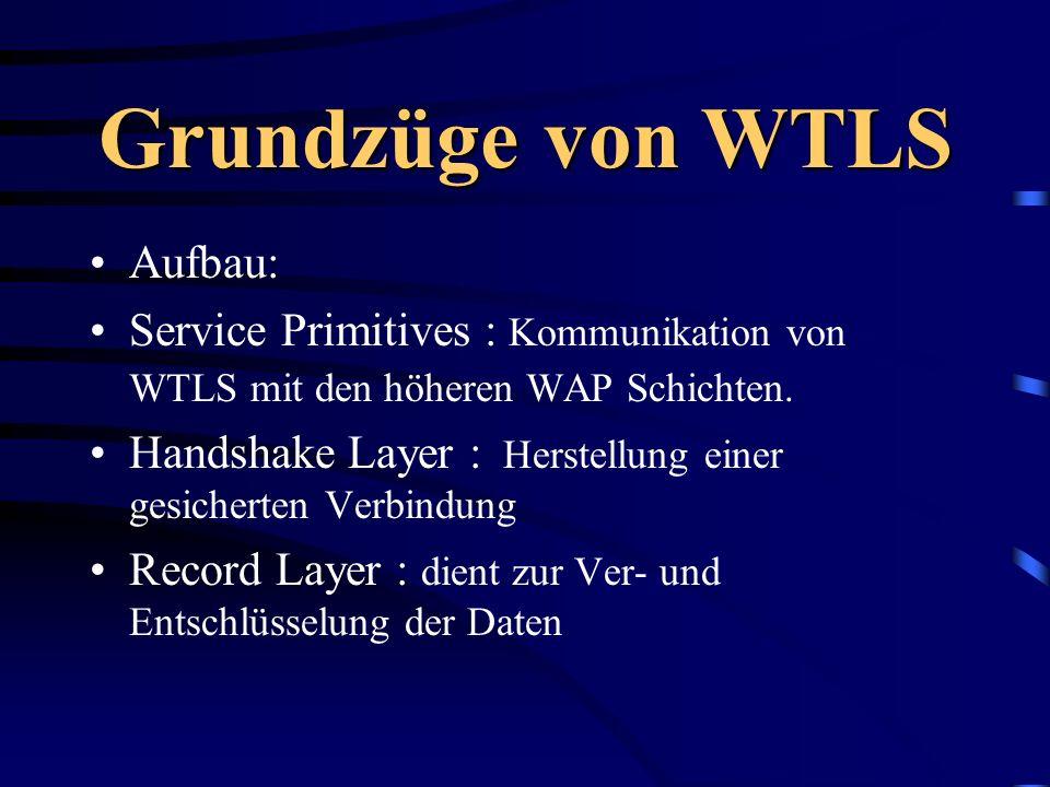 Grundzüge von WTLS Aufbau: