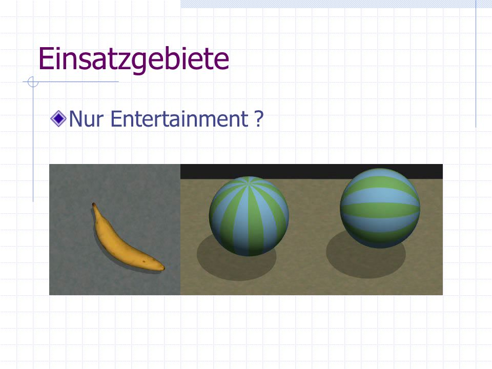 Einsatzgebiete Nur Entertainment