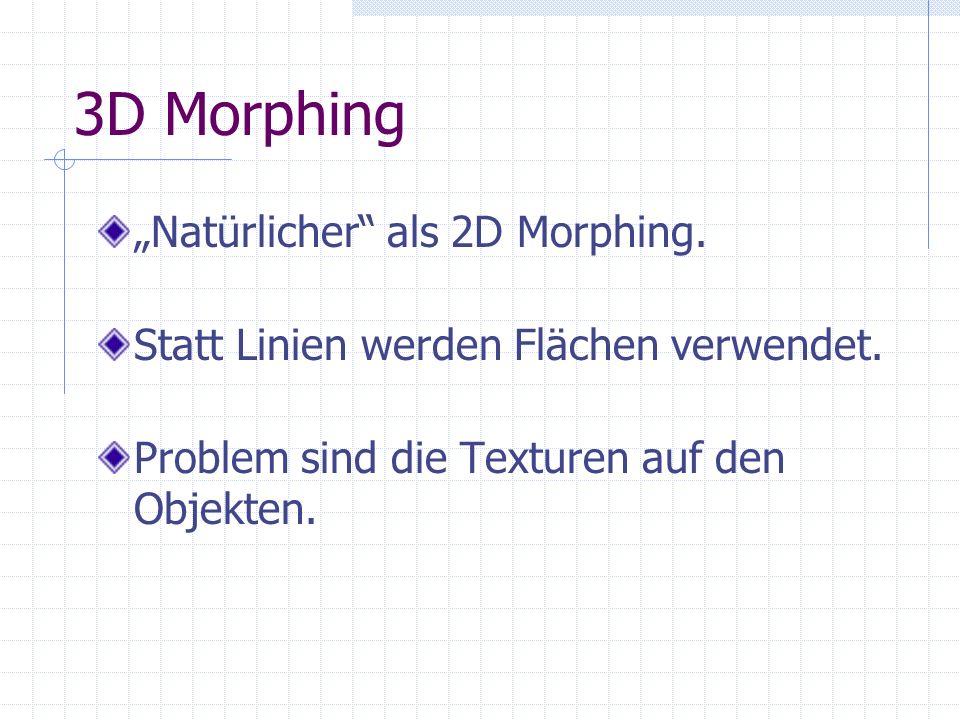 """3D Morphing """"Natürlicher als 2D Morphing."""