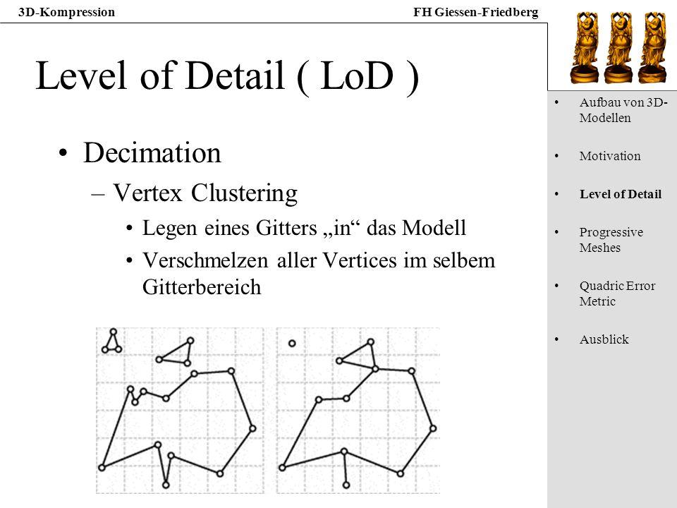 Level of Detail ( LoD ) Decimation Vertex Clustering