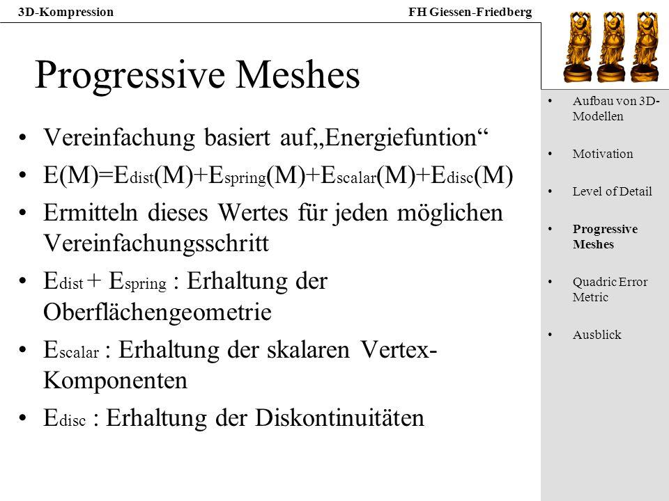 "Progressive Meshes Vereinfachung basiert auf""Energiefuntion"