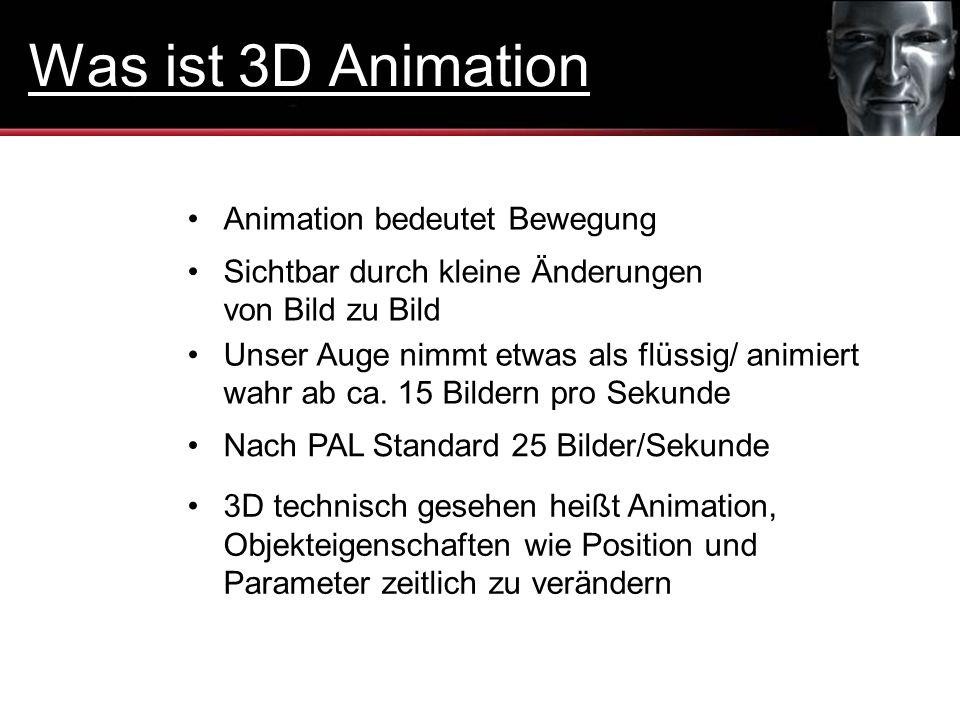 Was ist 3D Animation Animation bedeutet Bewegung