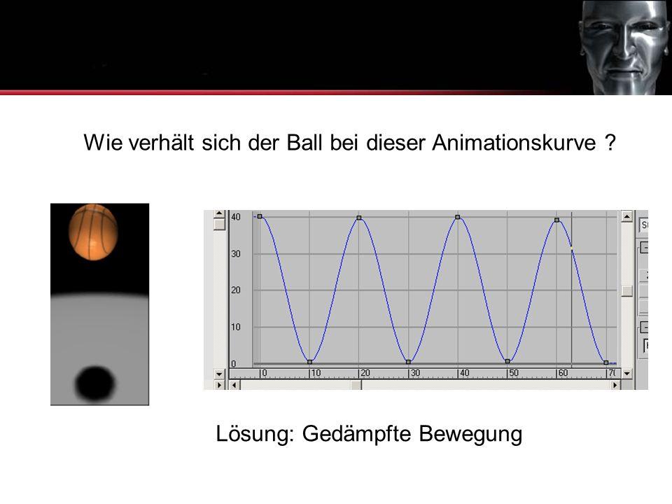 Animationskurven Wie verhält sich der Ball bei dieser Animationskurve Lösung: Gedämpfte Bewegung