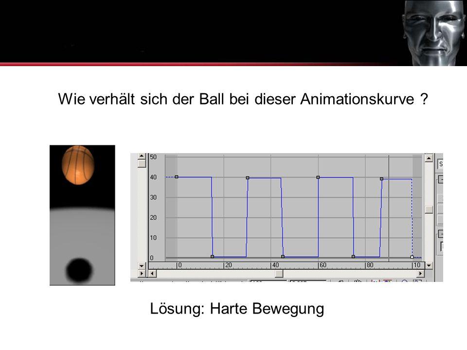 Animationskurven Wie verhält sich der Ball bei dieser Animationskurve Lösung: Harte Bewegung