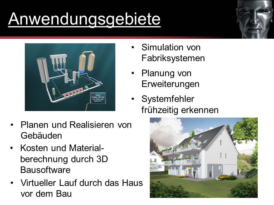 Anwendungsgebiete Simulation von Fabriksystemen