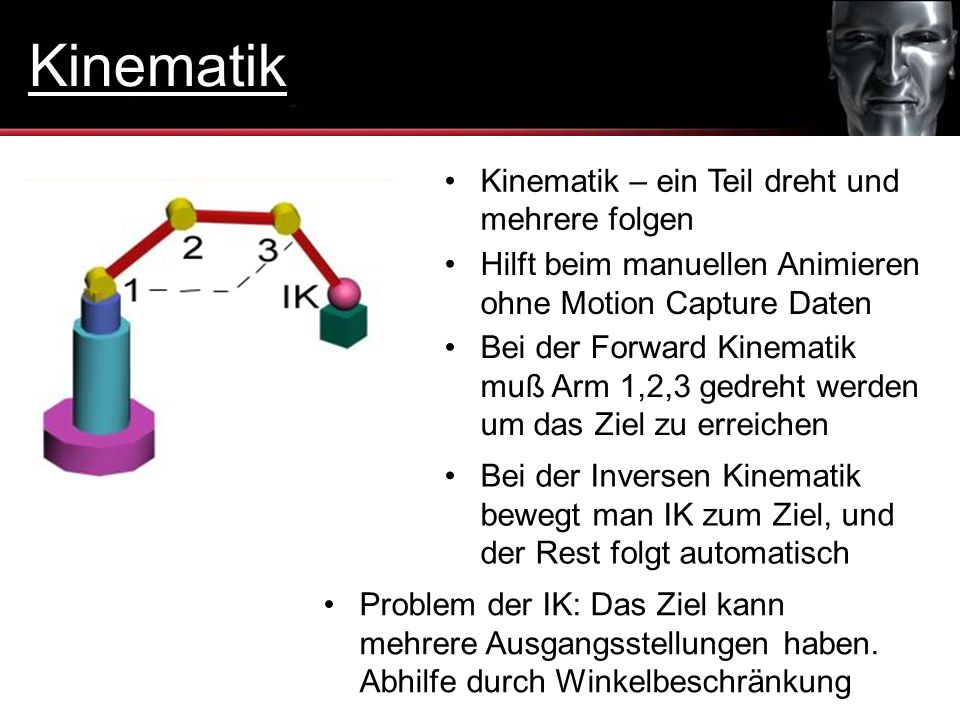 Kinematik Kinematik – ein Teil dreht und mehrere folgen