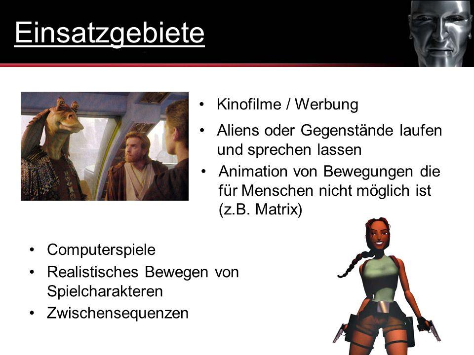 Einsatzgebiete Kinofilme / Werbung