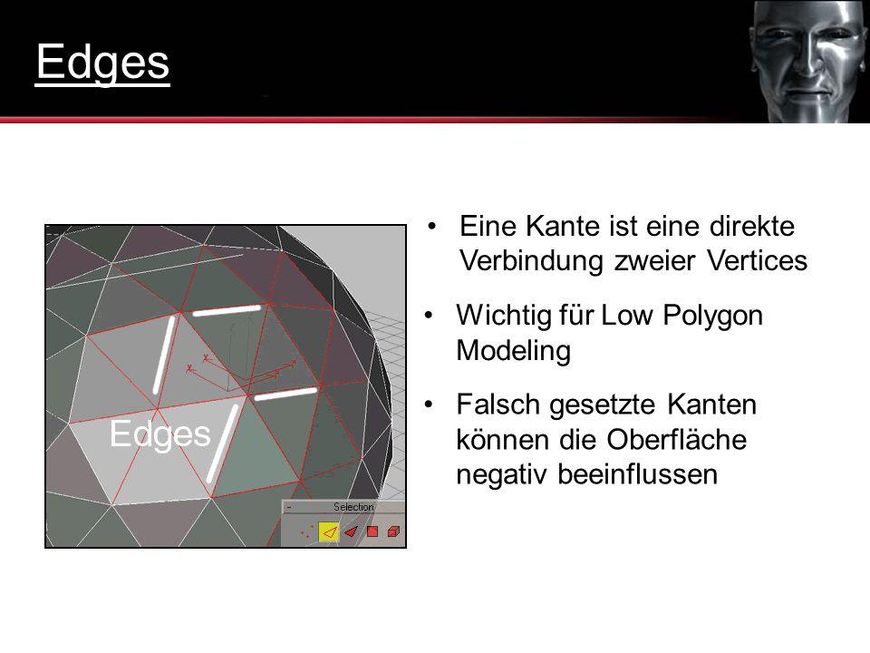 Edges Eine Kante ist eine direkte Verbindung zweier Vertices