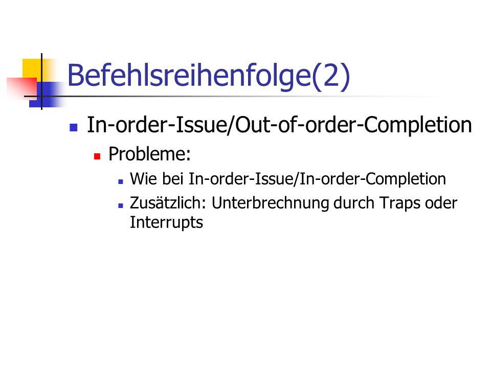 Befehlsreihenfolge(2)