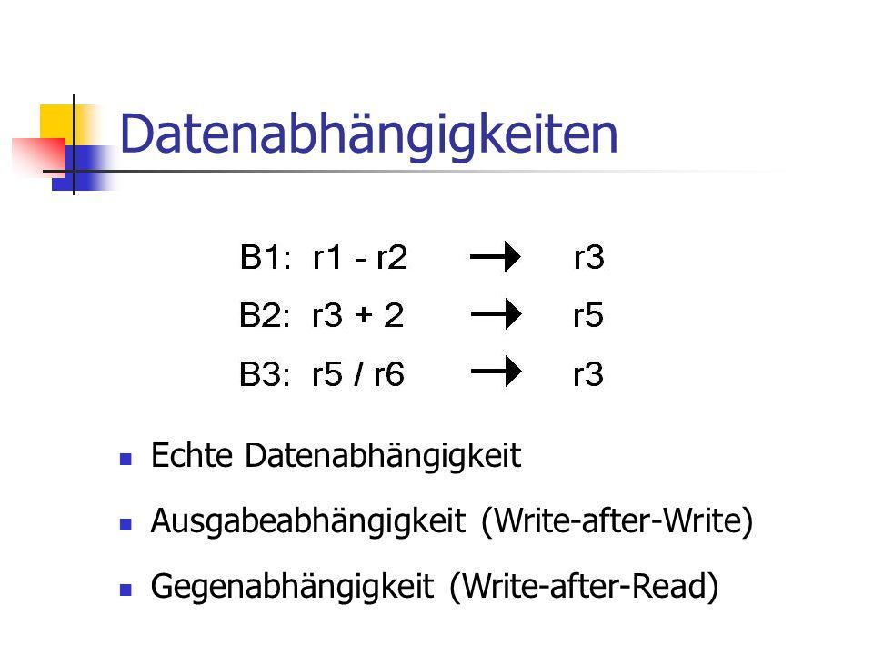 Datenabhängigkeiten Echte Datenabhängigkeit