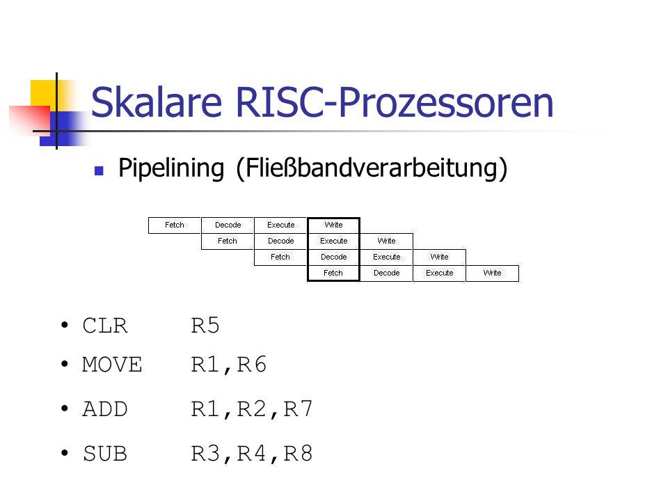 Skalare RISC-Prozessoren