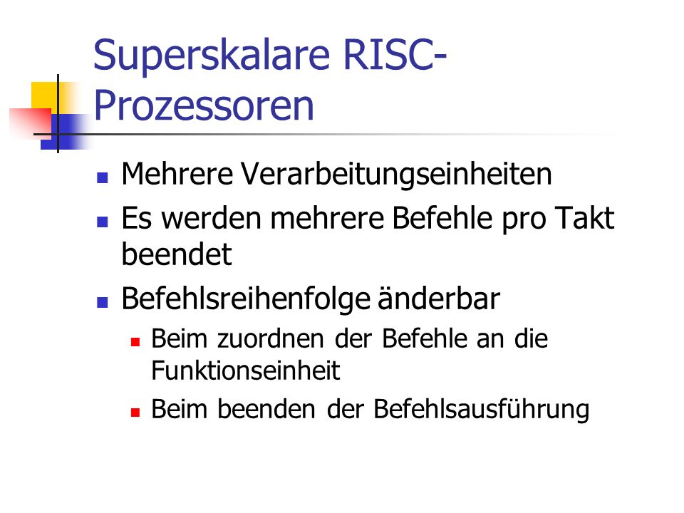 Superskalare RISC-Prozessoren
