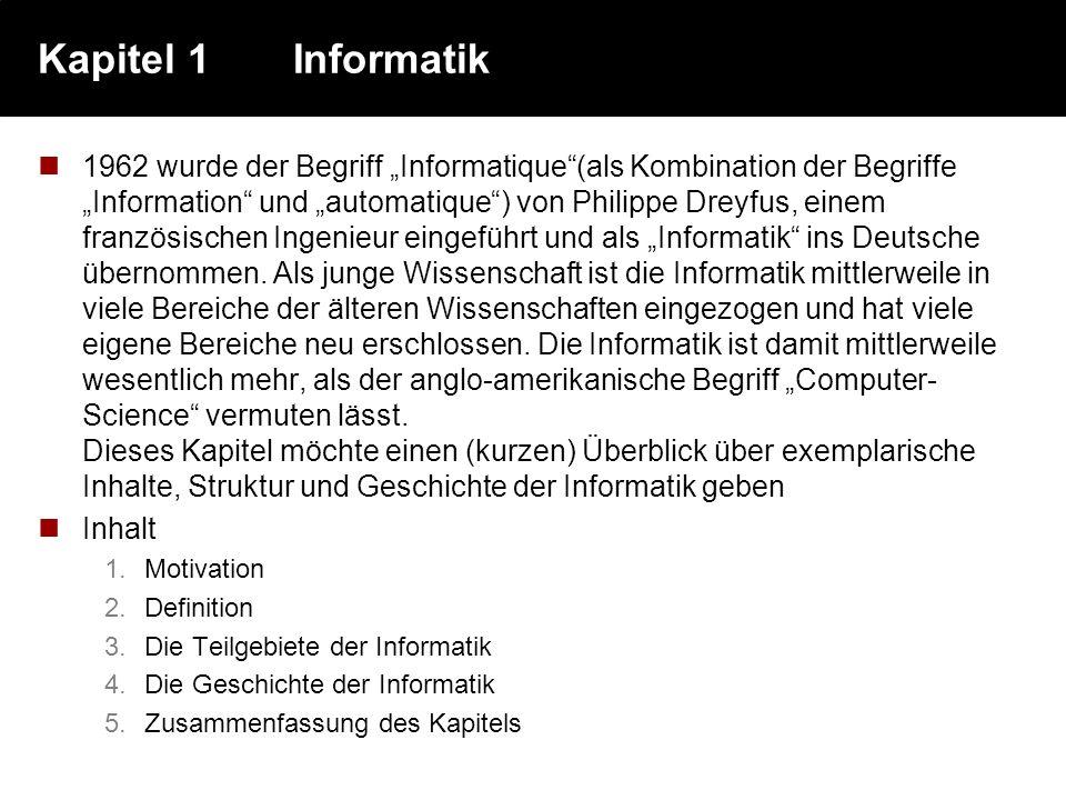 Kapitel 1 Informatik