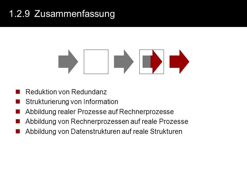 1.2.9 Zusammenfassung Reduktion von Redundanz