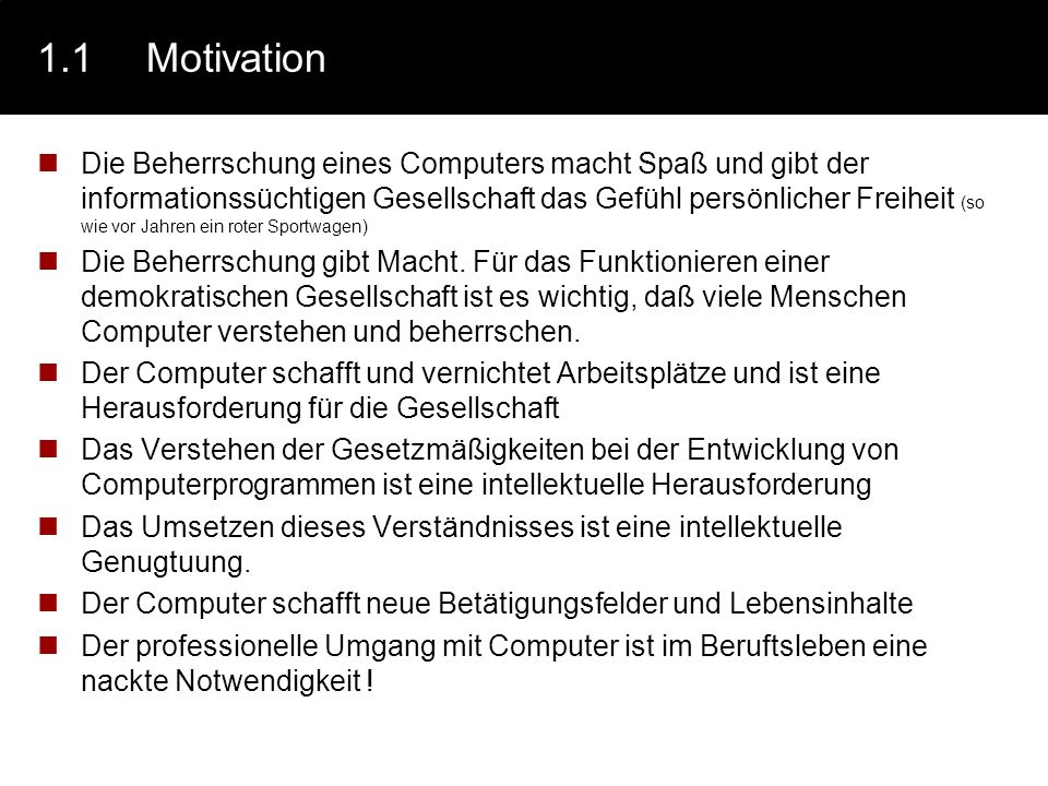 1.1 Motivation