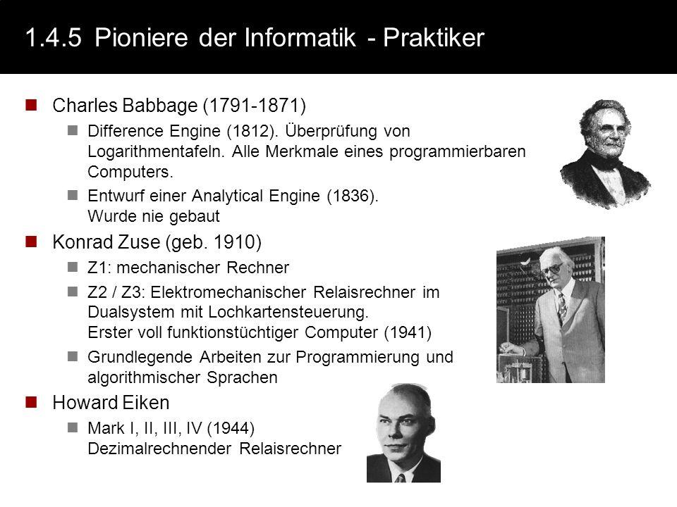 1.4.5 Pioniere der Informatik - Praktiker