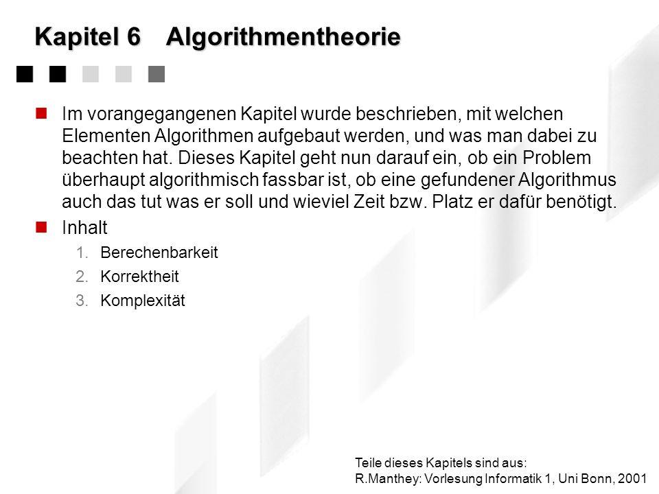 Kapitel 6 Algorithmentheorie
