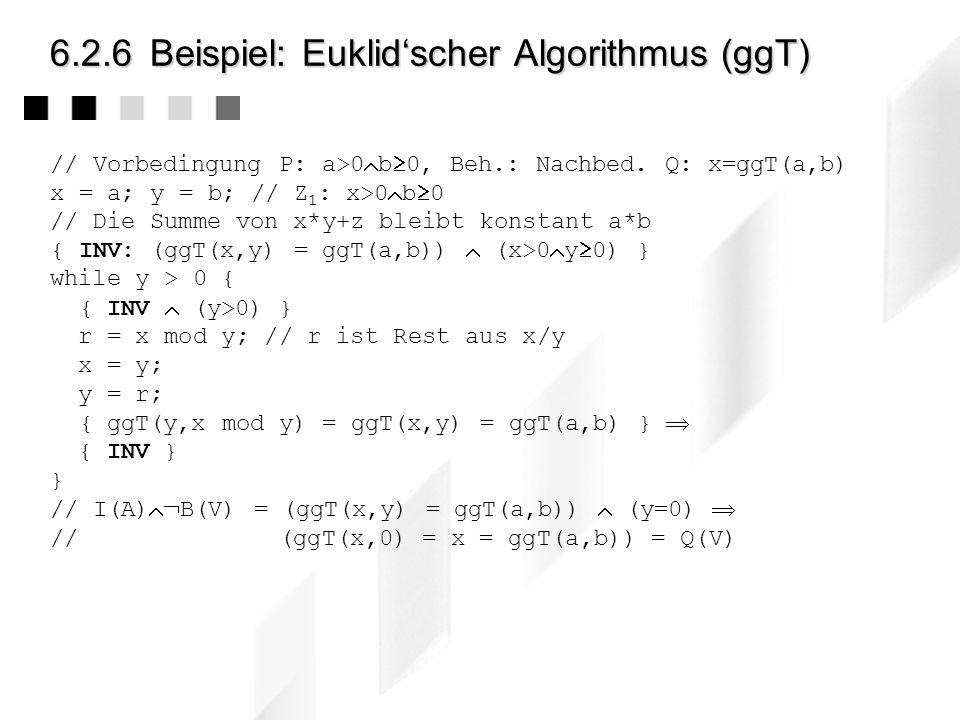 6.2.6 Beispiel: Euklid'scher Algorithmus (ggT)