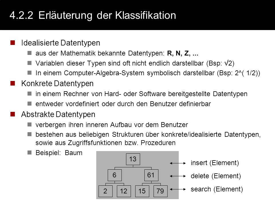 4.2.2 Erläuterung der Klassifikation