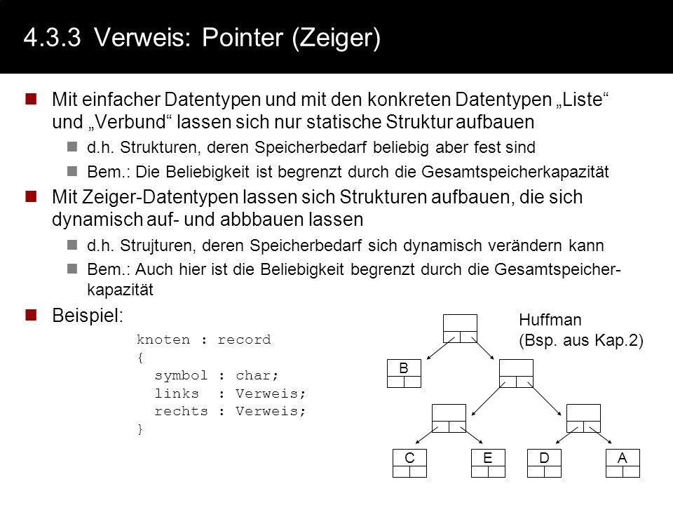 4.3.3 Verweis: Pointer (Zeiger)