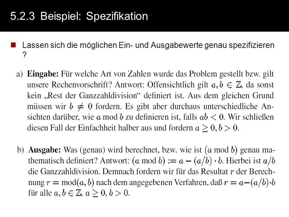 5.2.3 Beispiel: Spezifikation