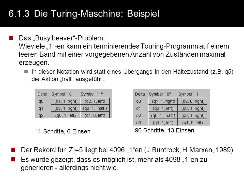 6.1.3 Die Turing-Maschine: Beispiel