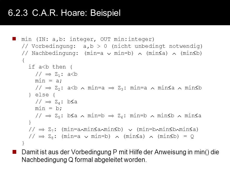 6.2.3 C.A.R. Hoare: Beispiel