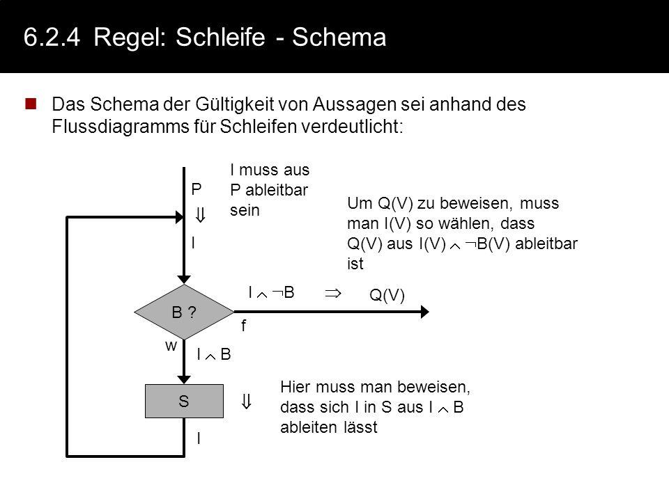 6.2.4 Regel: Schleife - Schema