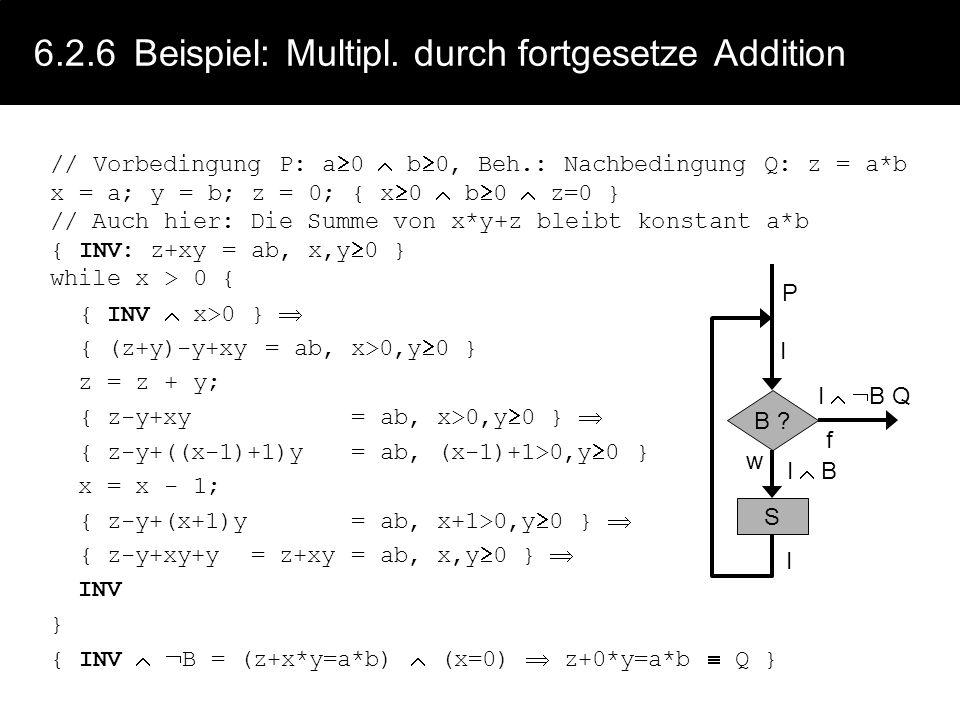6.2.6 Beispiel: Multipl. durch fortgesetze Addition