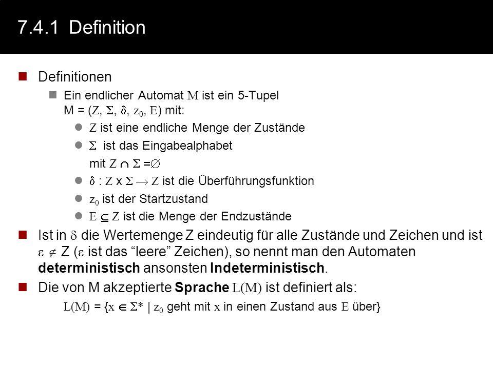 7.4.1 Definition Definitionen