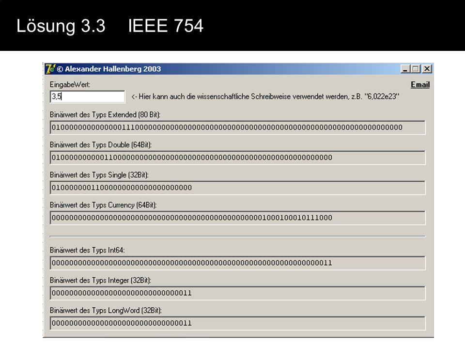 Lösung 3.3 IEEE 754