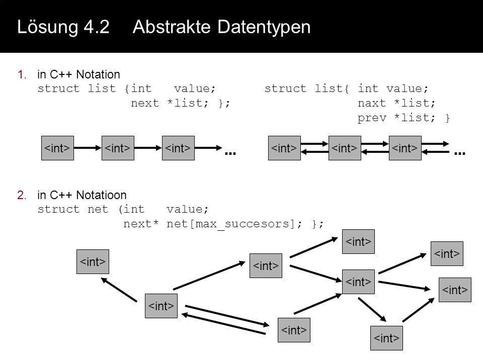 Lösung 4.2 Abstrakte Datentypen