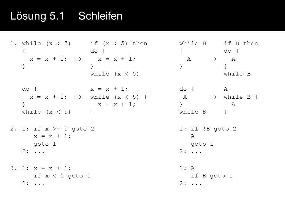 Lösung 5.1 Schleifen
