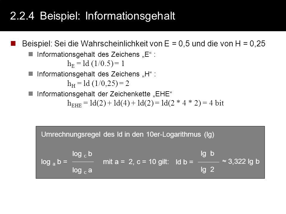 2.2.4 Beispiel: Informationsgehalt