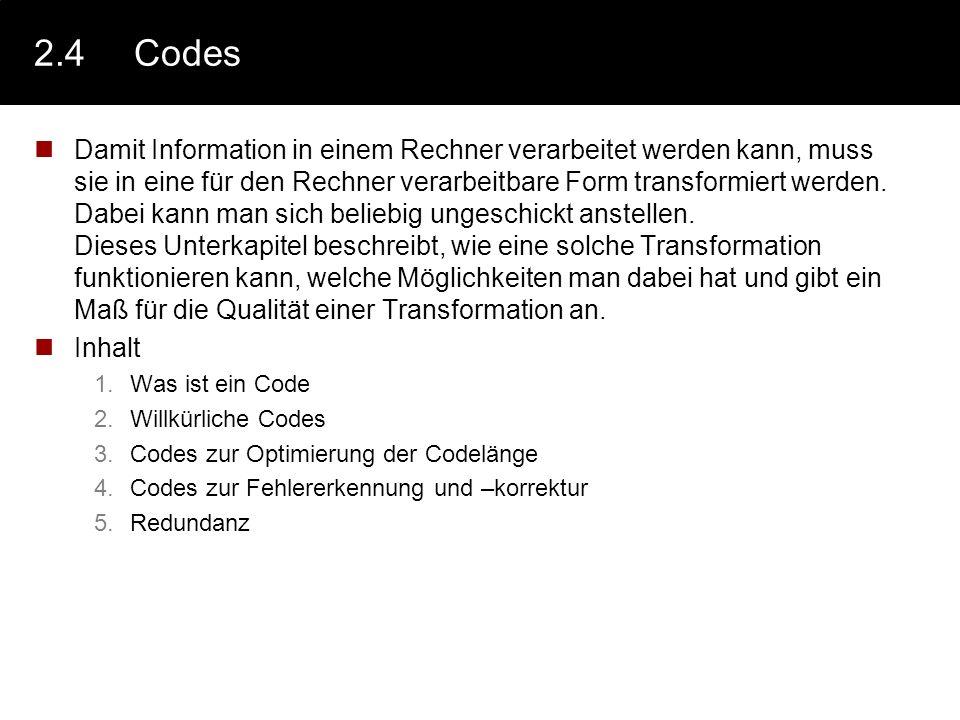 2.4 Codes