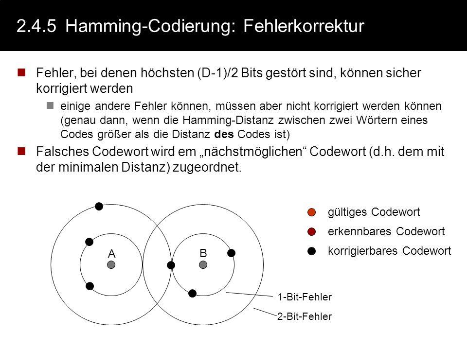 2.4.5 Hamming-Codierung: Fehlerkorrektur