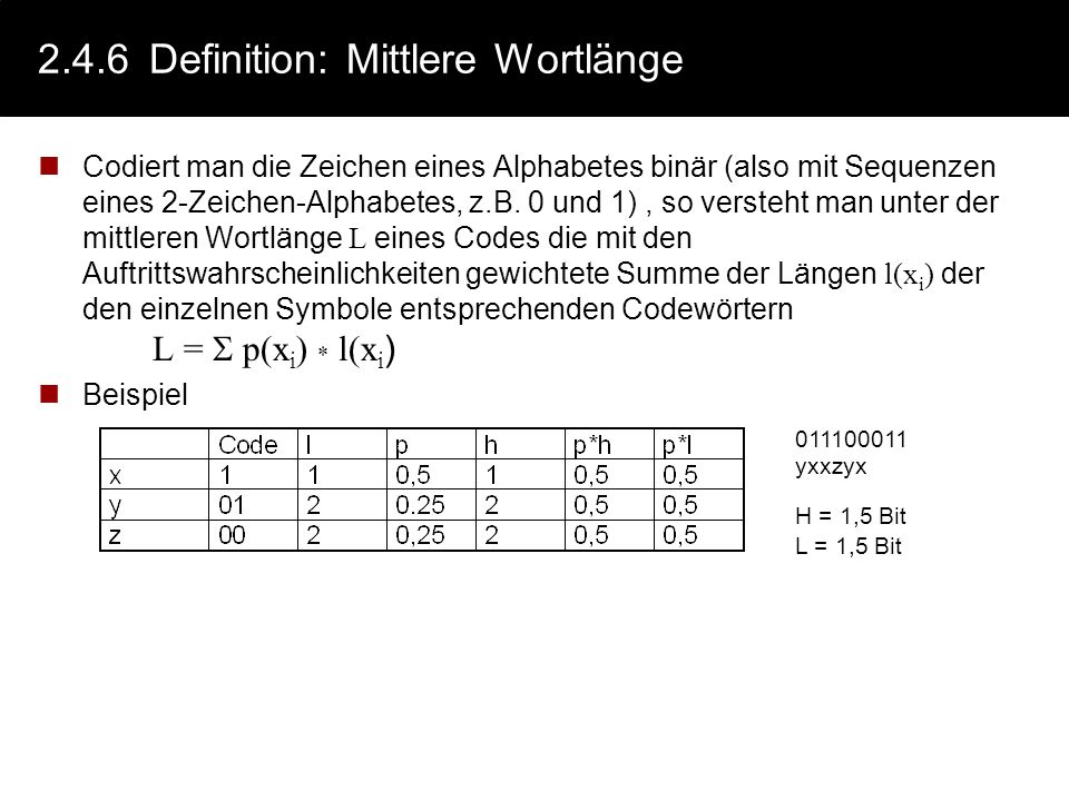 2.4.6 Definition: Mittlere Wortlänge