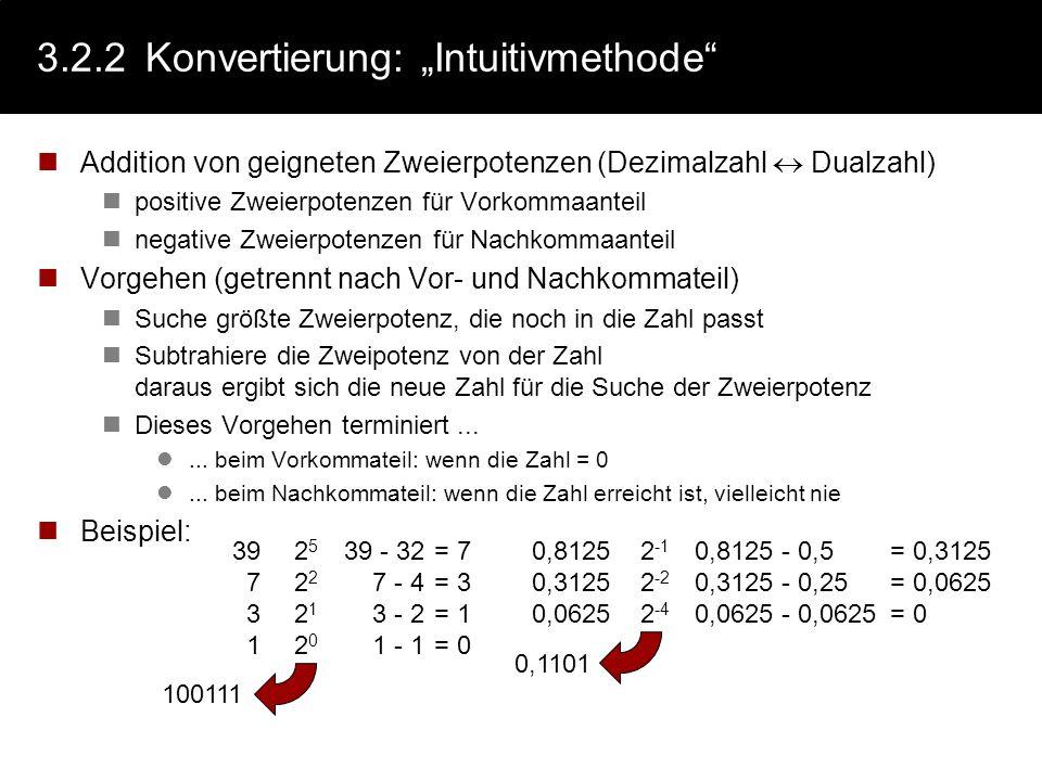"""3.2.2 Konvertierung: """"Intuitivmethode"""