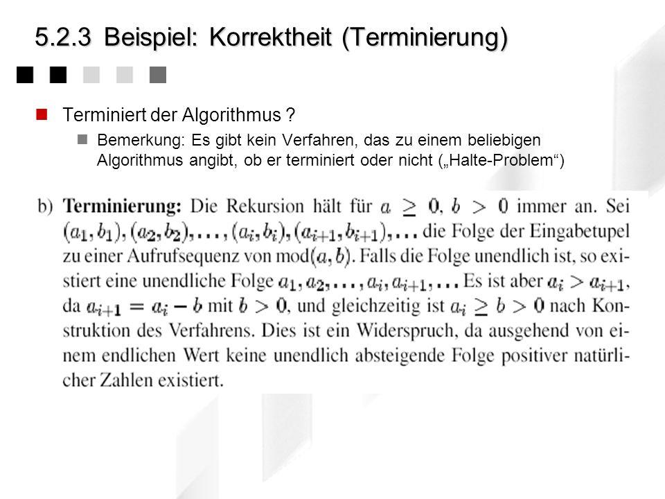 5.2.3 Beispiel: Korrektheit (Terminierung)