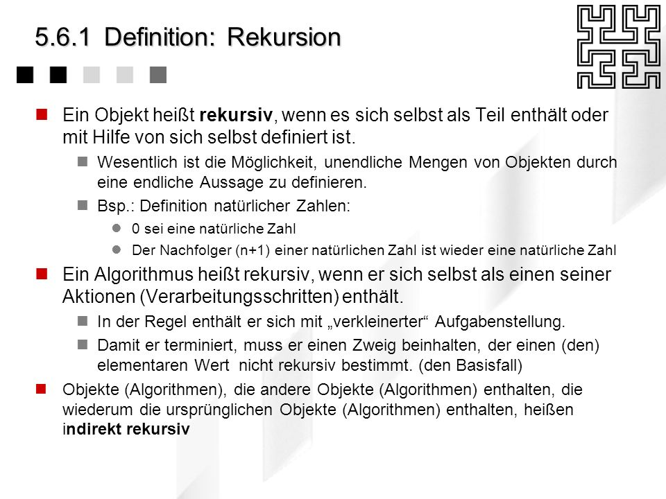 5.6.1 Definition: Rekursion