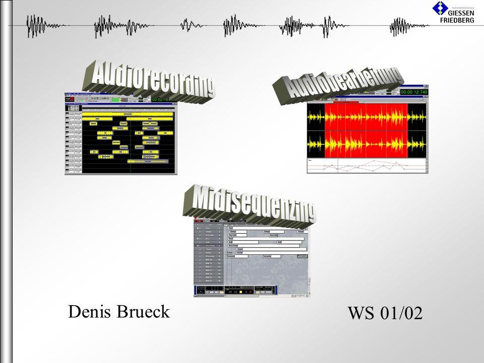 Audiorecording Audiobearbeitung Midisequenzing Denis Brueck WS 01/02