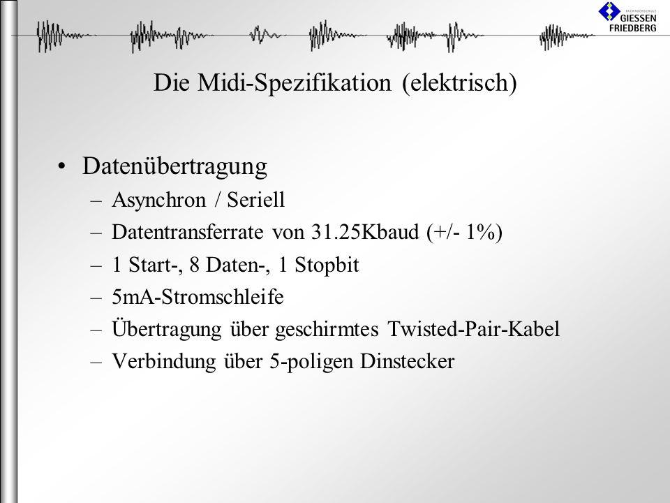 Die Midi-Spezifikation (elektrisch)